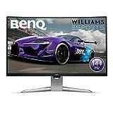 BenQ EX3203R - Monitor Curvo Gaming de 31.5' (QHD 2K, 144 Hz, HDR, FreeSync 2, Sensor B.I, HDMI, Display Port, USB-C) Color Negro y Gris