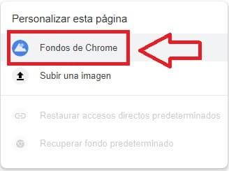 poner un fondo de google chrome
