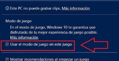 activar modo de juego en windows 10