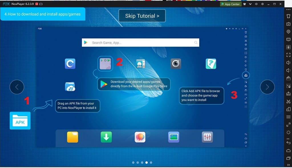 instalar archivos apk en nox app player.