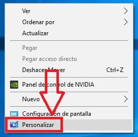 quitar transparencia windows 10