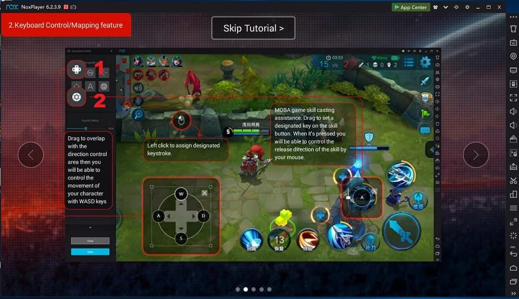 configurar teclas y raton en nox app player