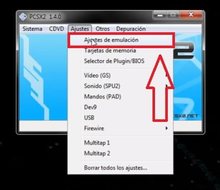 Configurar PCSX2.