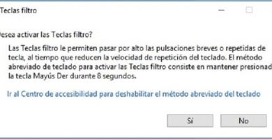 desbloquear el teclado de windows 10