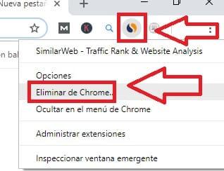 Eliminar Una Extensión De Chrome.