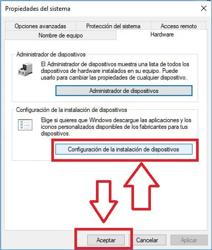 Evitar que windows descarga aplicaciones y iconos personalizados