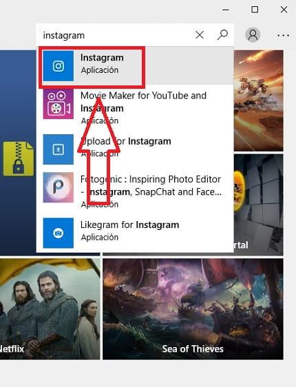 descargar instagram para pc windows 10