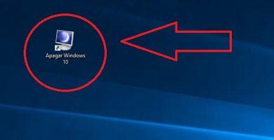 apagar Windows 10 desde el escritorio