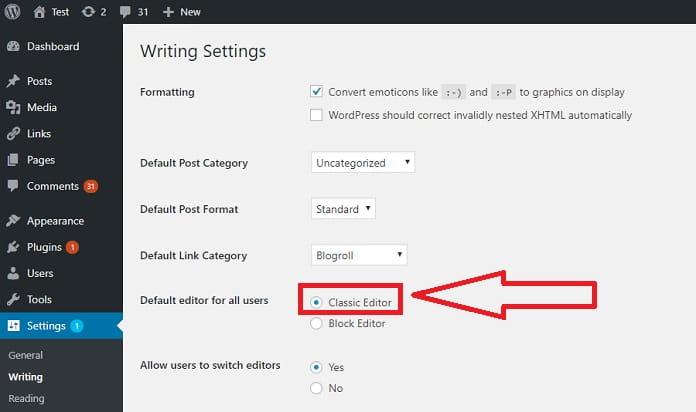 desactivar gutenber de wordpress 5.0