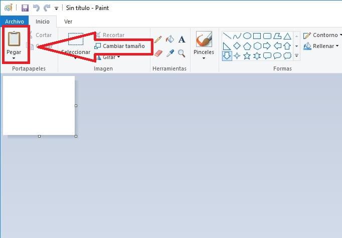 Captura la pantalla del ordenador.
