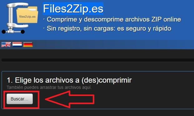 comprimir archivos zip gratis online