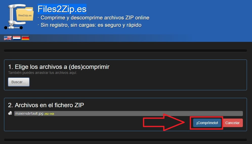 comprimir archivos zip gratis sin programas