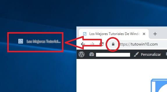 como crear un acceso directo de una pagina web