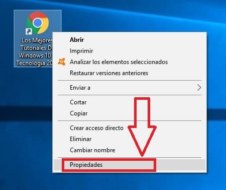 Personalizar icono de acceso directo a página web.