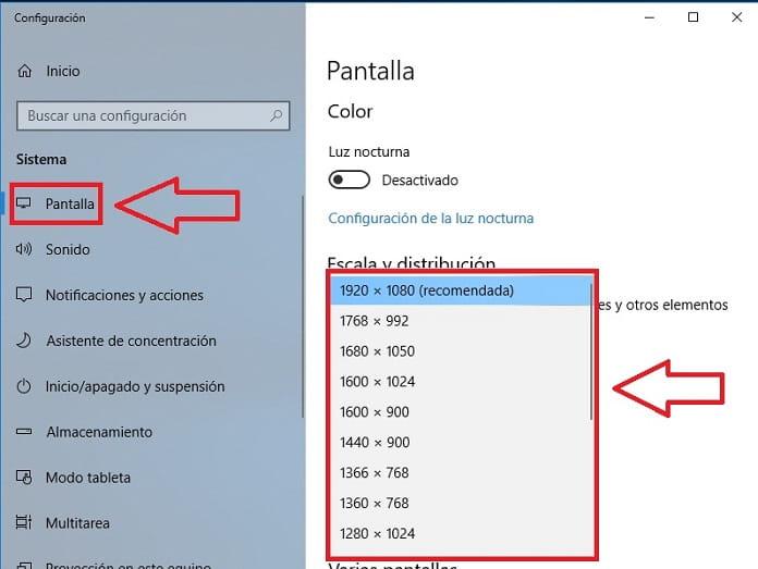cambiar resolucion de pantalla por terminal