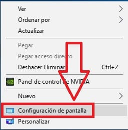 ¿Como bajar la resolucion de pantalla en Windows 10?