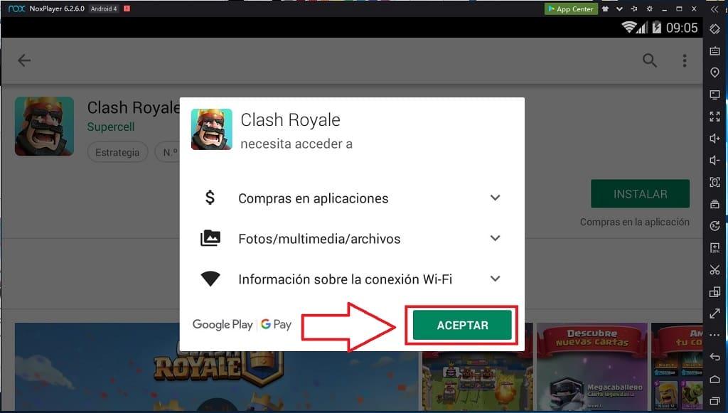 Clash Royale En computadora.