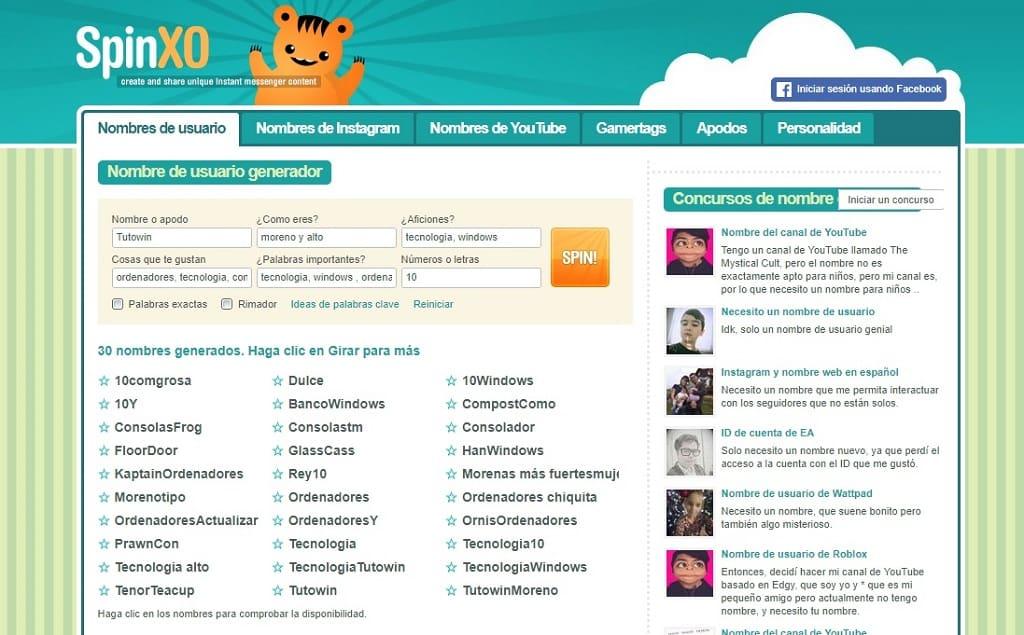 Generador De Nombres Para Páginas Web Originales 2019