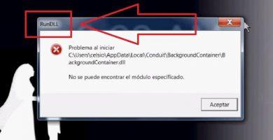 solucinar error RUNDLL.