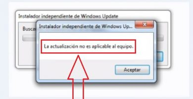 windows installer la actualizacion no es aplicable al equipo
