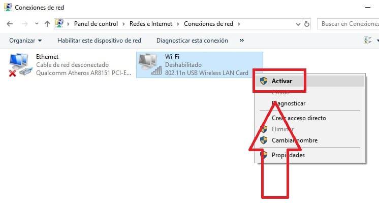 la funcion inalambrica esta desactivada windows 8