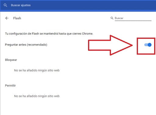 como habilitar flash player google chrome