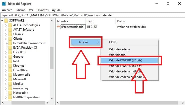 desactivar windows defender windows 10 completamente