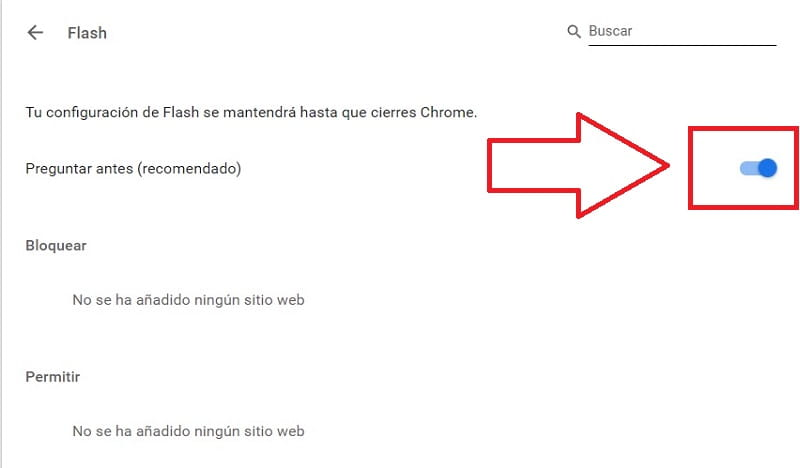 ejecutar flash google chrome