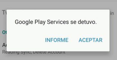 solucionar Google Play Store se ha interrumpido.