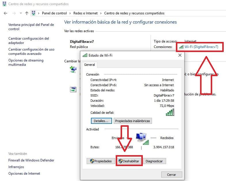 la puerta de enlace predeterminada no esta disponible windows 10 ethernet
