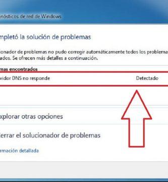 servidor DNS no responde en windows 10.