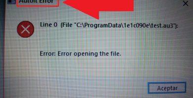 como solucionar autoit error en windows 10