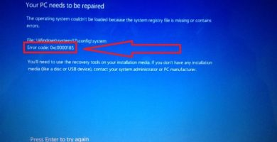 Error 0xc0000185 En Windows 10