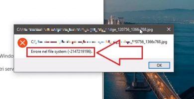 error del sistema de archivos (-2147219196)