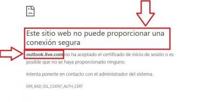 este sitio web no puede proporcionar una conexión segura nod32
