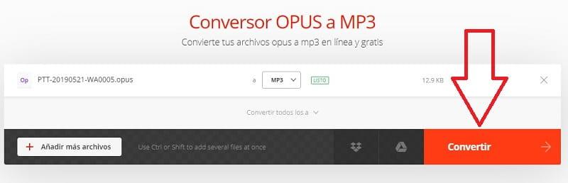 convertidor opus a mp3 gratis