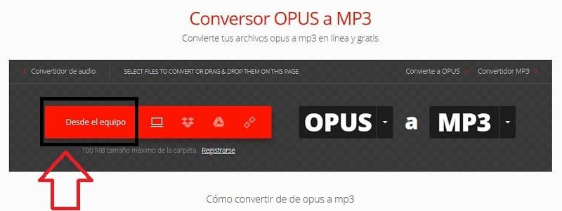 convertir archivos opus a mp3