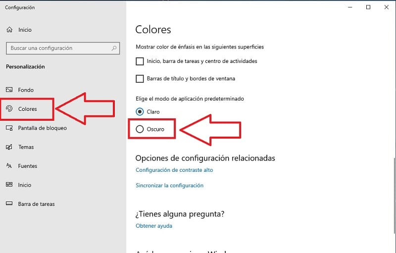 modo oscuro chrome windows 10
