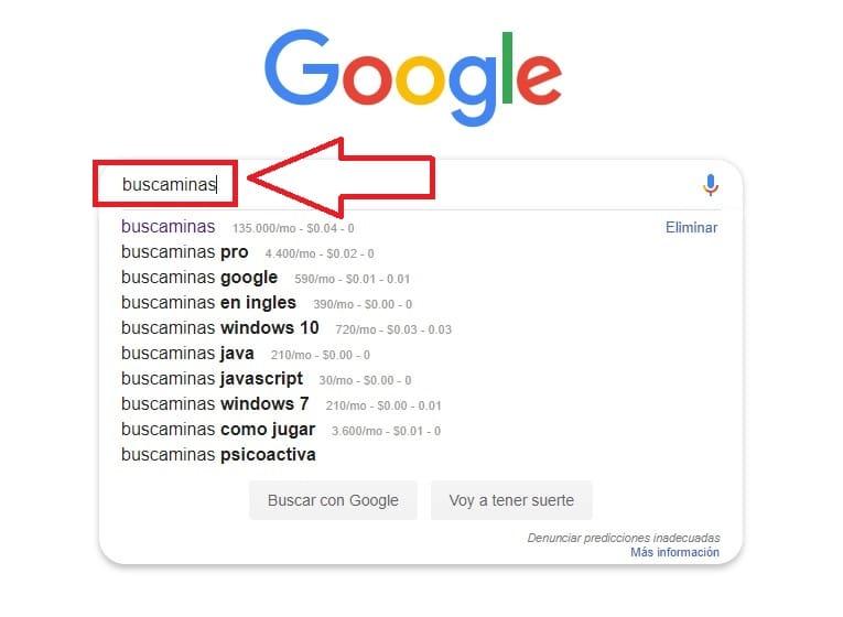 buscaminas en google