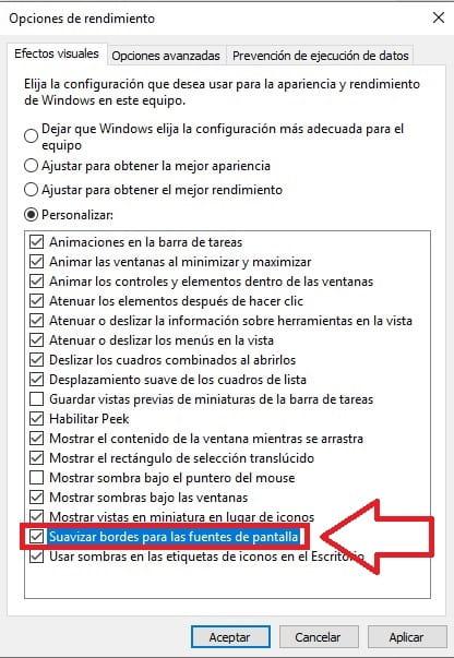 solucionar letras borrosas windows 10