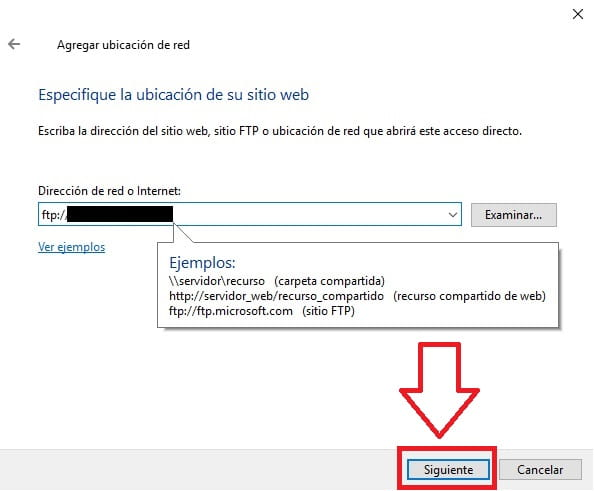 compartir archivos por ftp windows 10