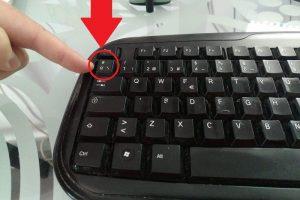 como hacer slash al reves con el teclado
