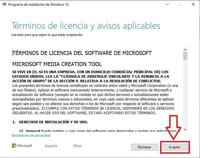 como instalar windows 10 media creation tool
