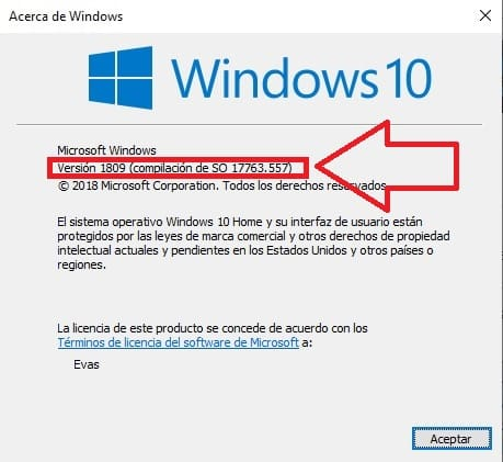 como saber que version de windows 10
