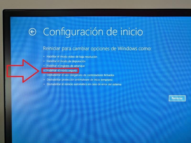 hay modo seguro en windows 10