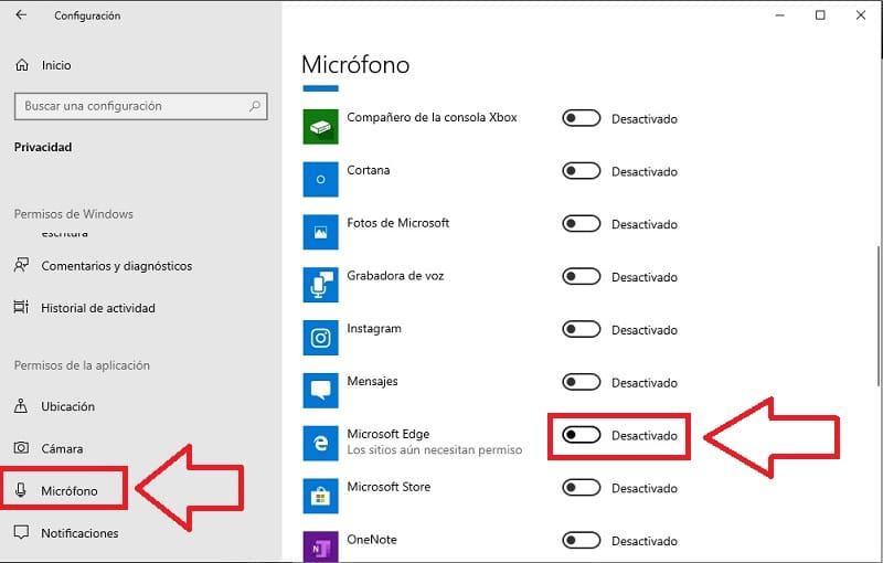 como evitar que windows 10 nos espíe por el micrófono.