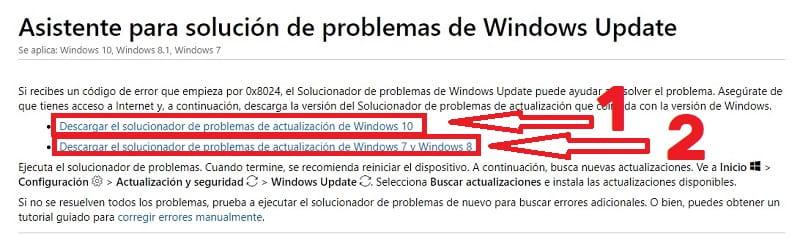 windows update no descarga actualizaciones 10