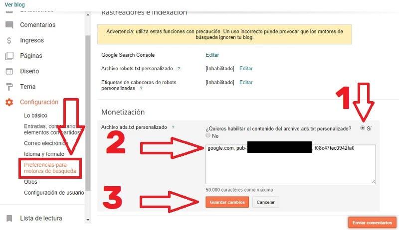 ads.txt en blogger como se añade.
