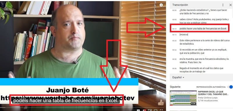 como descargar subtitulos de youtube