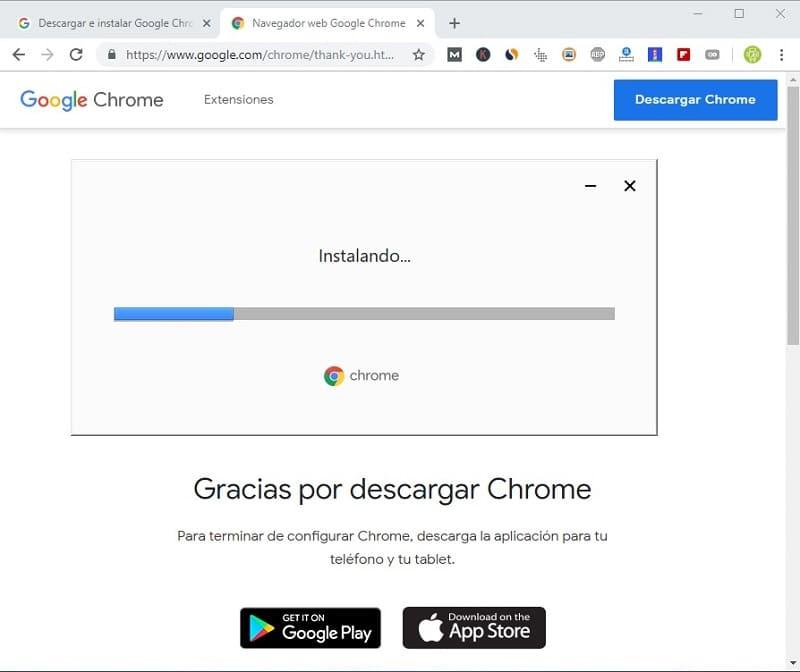 descargar google chrome descargar